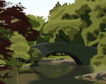 Central Park digital landscape