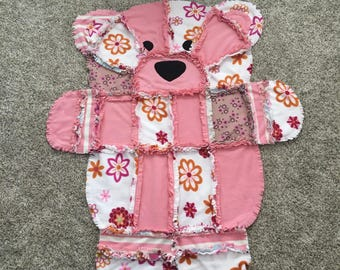 Flower Power Teddy Bear Blanket