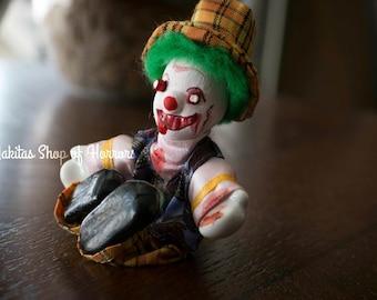 Nightmare, Clown, Horror, Goth, Blood, Gore, Halloween, Recreated, Art,  Doll,