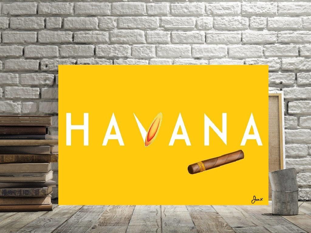 Havana Cuba Art Havana Fun Print Cuban Decor Canvas Option