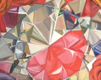 Diamond Series Artwork-Red Diamond Photocopy