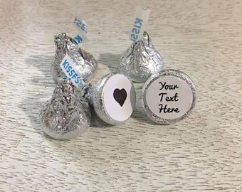 Hershey's Kisses Custom Labels, Candy Labels, Hershey's Kisses Stickers Small Round Label, Party Favor Wedding Favor Candy Stickers