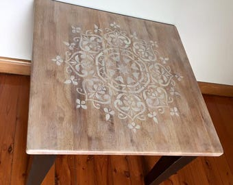 Square side table / lamp table / coffee table
