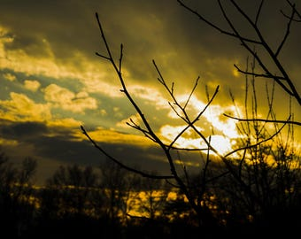 """Landscape Sky In Nature Art Print Entitled """"Fossil"""". Wall Decor, Photography"""