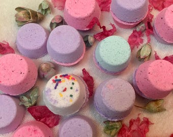 10 Mini Bath Bombs for 8, Pedicure Fizzies, spa pedicure