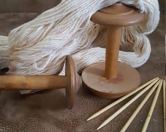 Handspun natural colored cotton, 2-ply yarn