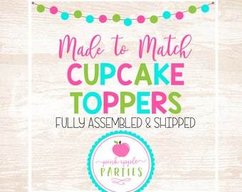 Made to Match - Cupcake Toppers, Set of 12