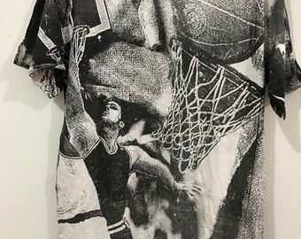 Vintage  fullprint NBA picture t-shirt jostens