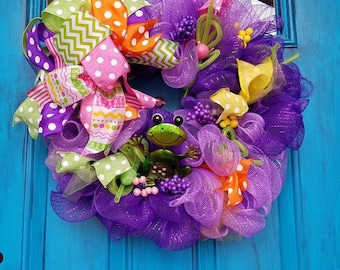 Purple Frog Wreath