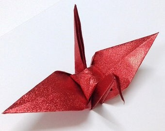 Large Red Origami Cranes ** 100 pcs