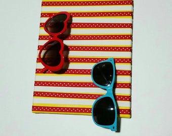 Sunglasses Organizer - Sunglasses Holder - Sunglass Display - Polka-dots - Canvas Art