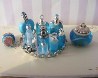1/12th Scale Turquoise Dressing Table Set