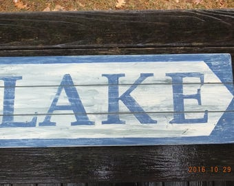 """Made in Maine Rustic Camp Signs """"LAKE"""""""
