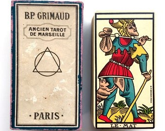 First Edition, 1930 Ancien Tarot de Marseille, Very Rare Fleur-de-Lis Grimaud 78/78