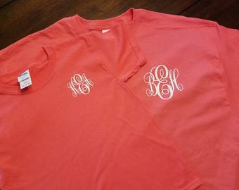 Mommy and Me Monogrammed Tshirts