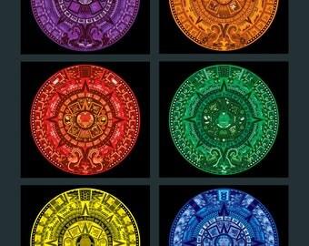 Aztec Calendar in New Colors