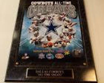 Dallas Cowboys Troy Aikman Emmitt Smith Photo Plaque *Licensed* All-Time Greats Ships 2 Day Priority Mail Gift Box