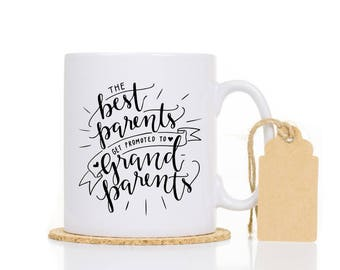 Best Parents Get promoted to grandparents Mug- Baby announcement Gift - Pregnancy announcement Mug - New Grandparents Gift Grandma Gift