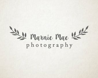 Premade Logo, ferns, leaves, for photography and small businesses