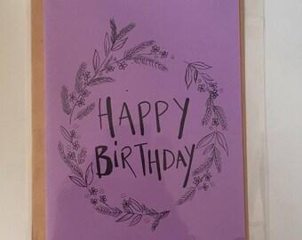 Hand drawn, Happy birthday card