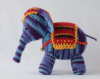 Crochet Elephant. Handmade Crochet Animals. Amigurumi Crochet Animals.