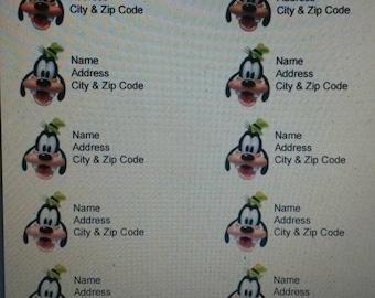 40 Goofy address labels