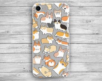 iphone corgi case iphone cute case iPhone 7 plus galaxy samsung s7 corgi  iphone 7 case iphone 6 case  iphone 7 dog case  clear case galaxy