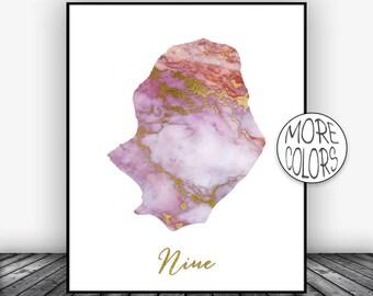 Niue Print, Niue Art Print, Home Decor, Niue Map Art, Wall Prints, Wall Art, Home Wall Decor, Living Room Decor, ArtPrintsZoe