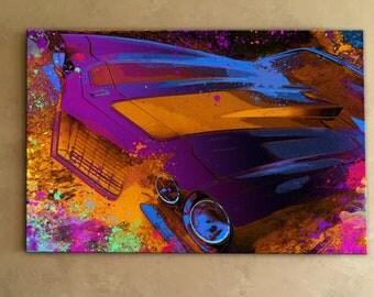 1972 Chevrolet Camaro Mixed Media Canvas Painting
