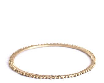 Eclipse - Brass bangle