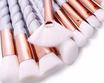 10pc white unicorn brushes
