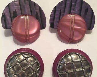 Vintage clipon earrings big and bold