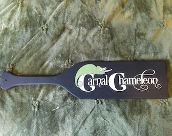 Custom Wood-burned & Hand-painted Paddle