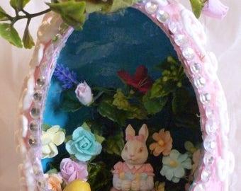 Handmade Easter Diorama Egg Decoration