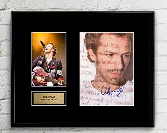 Coldplay Chris Martin - Autograph - Grammy Signed Poster Art Print Artwork