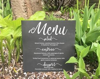 Wedding Menu Sign, Custom wedding sign, rustic wedding, custom wedding menu sign.
