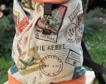 Handmade backpack in gobelin_francobolli