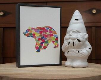 Watercolor Bear Print
