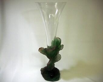 Daum Pate de Verre Art Glass Vase-Signed