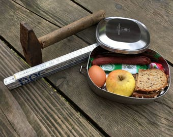 Food-safe stainless steel bread box