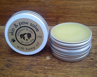 Moisturising Skin & Paw Salve for Dogs – Peppermint. Dog Grooming, Pet Care, Paw Balm, Tea Tree, Natural Pet Care, Hemp Oil, SLS-Free, Pets