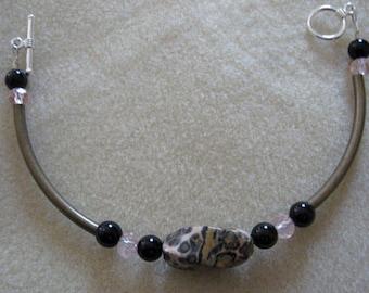 Leopard Jasper Gemstone Bracelet