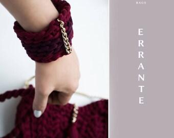 Knitted bracelet Nameplate bracelet Hand knit bracelet Yarn knit cuff Knit wire bracelet Yarn bracelet color Yarn bracelets Earthy bracelet