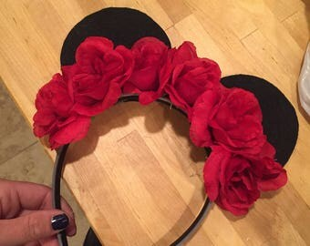 Red Rose Mickey Ears