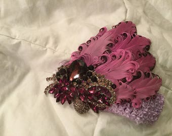 Curled Feather Headbands