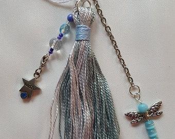 Blue Dragonfly Wish Purse Charm