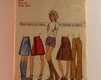 Vintage Sewing Pattern Simplicity Skirt/Pants 9628 Size 12