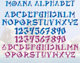 Moana Alphabet, All Moana Letters, Moana Alphabet Cliparts, Moana ...