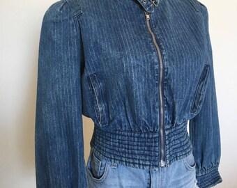 1980's Ultra Flattering Jean Jacket