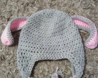 Crochet bunny beanie